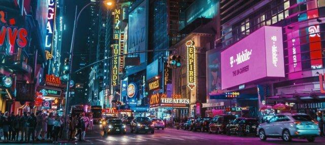Brand billboards times square
